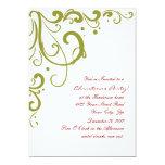 Navidad rojo y verde festivo elegante invitacion personal