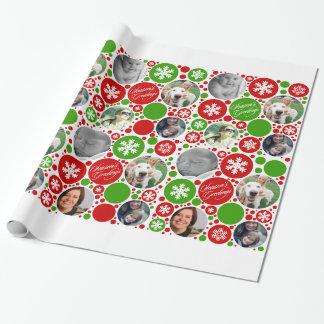 Navidad rojo y verde papel de regalo