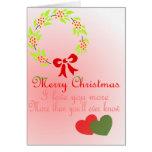 Navidad romántico tarjetón