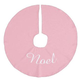 Navidad rosa claro conocido de encargo del día de falda para arbol de navidad de imitación de lino