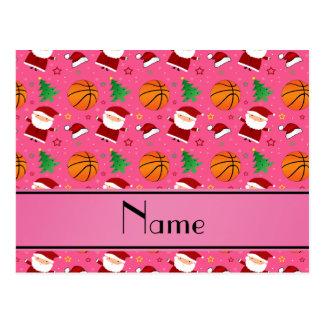 Navidad rosado conocido personalizado del tarjetas postales