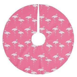Navidad rosado elegante del flamenco falda para arbol de navidad de poliéster