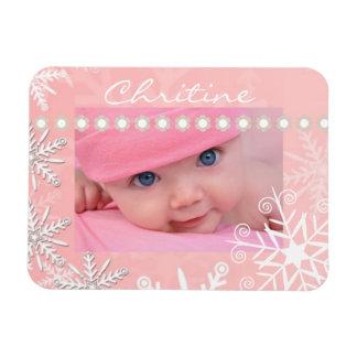 Navidad rosado imán flexible