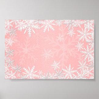 Navidad rosado impresiones