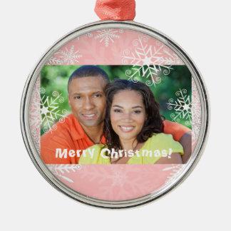 Navidad rosado ornamento para arbol de navidad