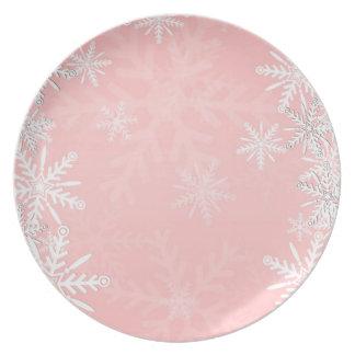 Navidad rosado plato