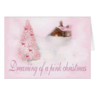 Navidad rosado tarjetas