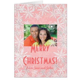 Navidad rosado tarjeton