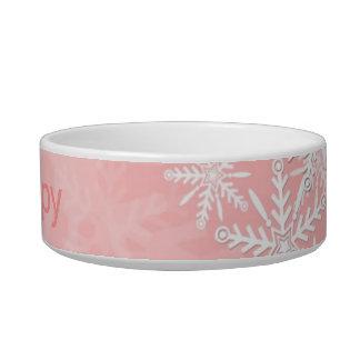 Navidad rosado tazón para agua para gatos