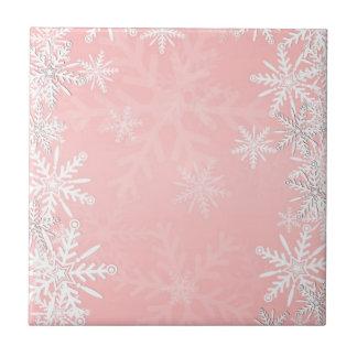 Navidad rosado tejas  ceramicas