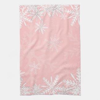 Navidad rosado toallas de mano