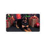 Navidad - Rottweiler - Nalani Etiqueta De Dirección