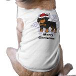 Navidad Rottweiler Playera Sin Mangas Para Perro