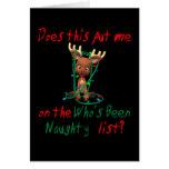 Navidad Rudolph divertido sido travieso Tarjeta De Felicitación