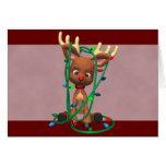 Navidad Rudolph el reno sospechado rojo Felicitaciones