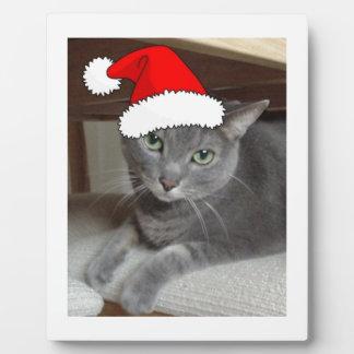 Navidad ruso del gato azul placas para mostrar