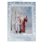 Navidad ruso - padre Frost y Snegurochka Tarjetas
