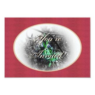 Navidad rústico del solsticio de invierno de Yule Comunicado Personalizado