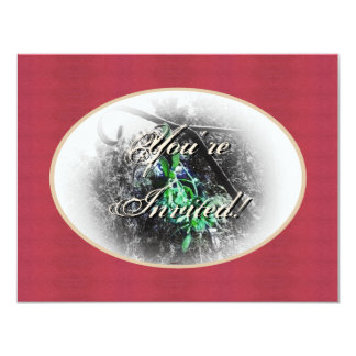 Navidad rústico del solsticio de invierno de Yule Invitación Personalizada