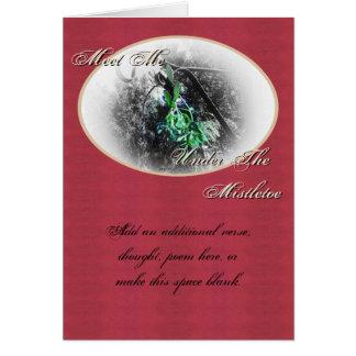 Navidad rústico del solsticio de invierno de Yule  Felicitaciones