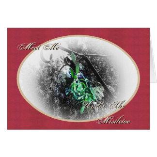 Navidad rústico del solsticio de invierno de Yule  Felicitación