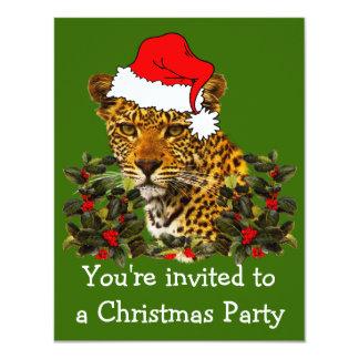 """Navidad salvaje invitación 4.25"""" x 5.5"""""""