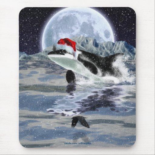 Navidad salvaje Mousepad del océano de la orca y d