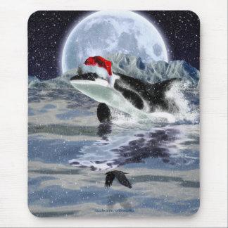 Navidad salvaje Mousepad del océano de la orca y d Tapete De Raton