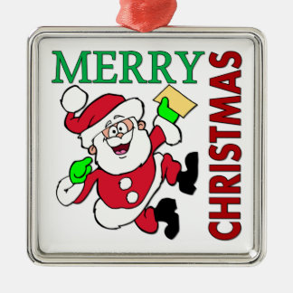 Navidad Santa Adorno Navideño Cuadrado De Metal