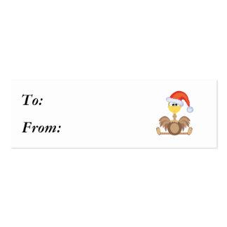 Navidad santa de la avestruz de los goofkins tarjetas de visita mini