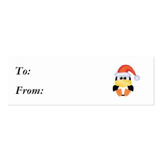 Navidad santa del pingüino de los goofkins tarjetas de visita mini