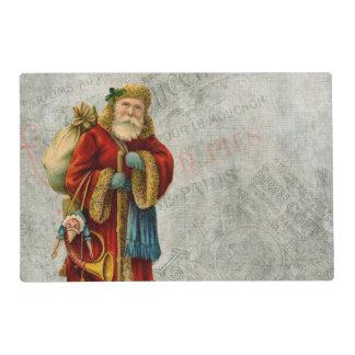 Navidad Santa del Viejo Mundo del vintage Tapete Individual