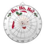 ¡Navidad Santa del vintage Ho, Ho, Ho! Tablero De Dardos
