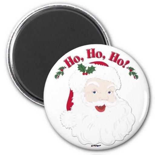 ¡Navidad Santa del vintage Ho, Ho, Ho! Imán