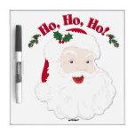 ¡Navidad Santa del vintage Ho, Ho, Ho! Pizarra Blanca