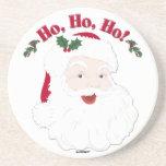 ¡Navidad Santa del vintage Ho, Ho, Ho! Posavaso Para Bebida