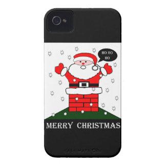 Navidad Santa Ho Ho Ho iPhone 4 Case-Mate Cobertura