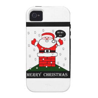 Navidad Santa Ho Ho Ho Vibe iPhone 4 Funda