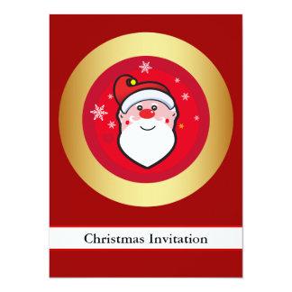 """Navidad Santa Invitación 5.5"""" X 7.5"""""""