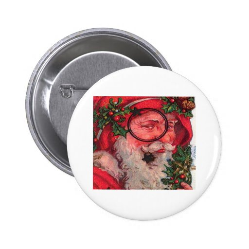Navidad Santa - personalizable Pins