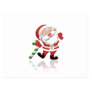 Navidad Santa Tarjeta Postal