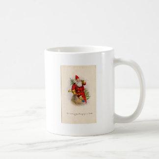 navidad+santa+vintage+imagen+graphicsfairy003.jpg taza clásica