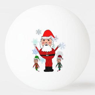 Navidad Santa y duendes Pelota De Ping Pong