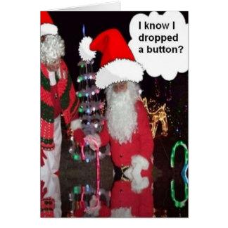 Navidad Santa y escarchado Tarjeta De Felicitación