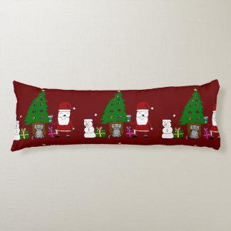 Navidad Santa y gato Cojin Cama