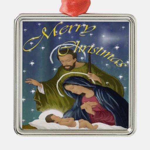 Navidad santo de la familia ornamentos de reyes