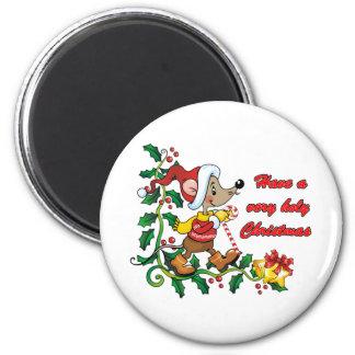 Navidad santo de Mousie Imán Redondo 5 Cm