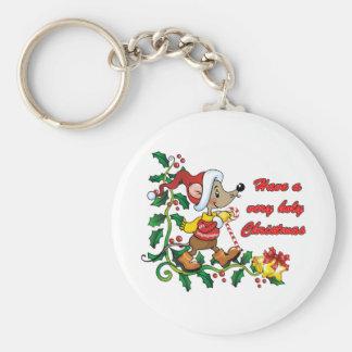 Navidad santo de Mousie Llavero Redondo Tipo Pin