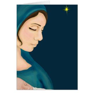 Navidad santo tarjeta de felicitación