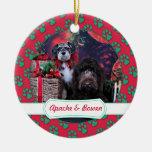 Navidad - Schnauzer Apache - Bowen LabraDoodle Ornamento Para Reyes Magos